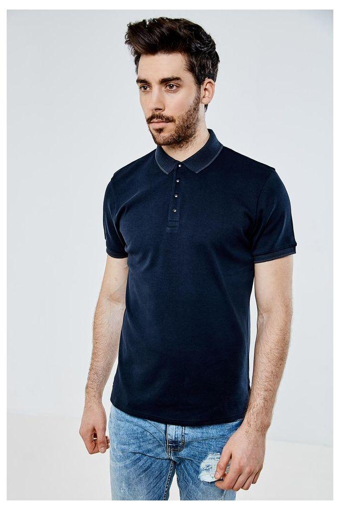 Threadbare River Polo Shirt - Navy