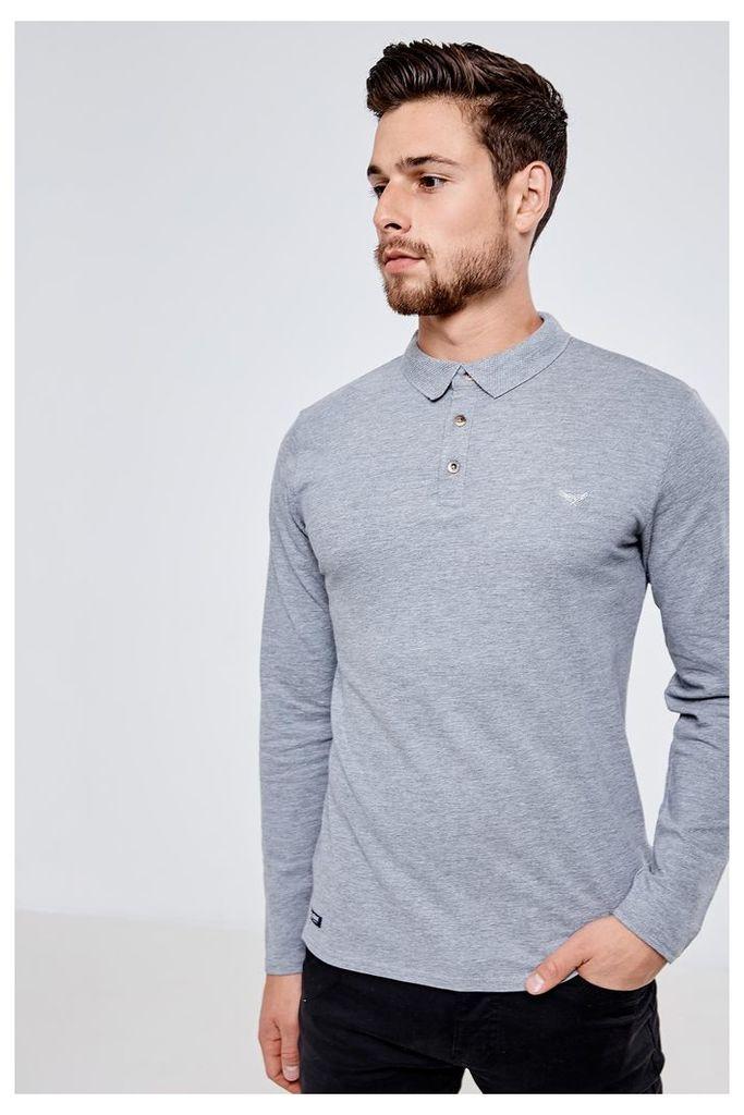 Threadbare Alton Polo Shirt - Grey