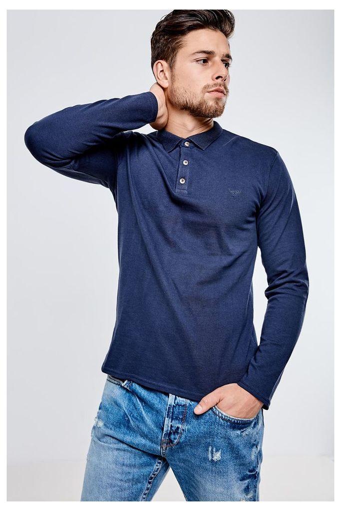 Threadbare Alton Polo Shirt - Navy