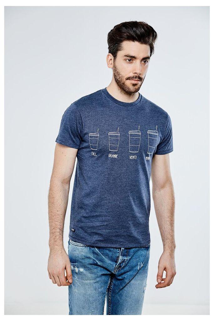 Threadbare Coffee T-Shirt - Navy