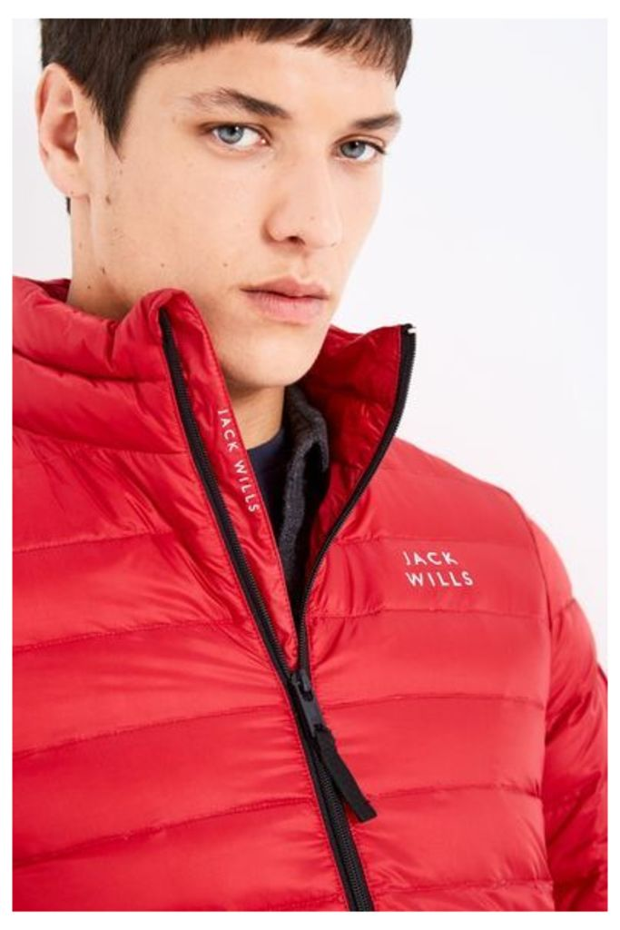 NEVIS DOWN PUFFER RED