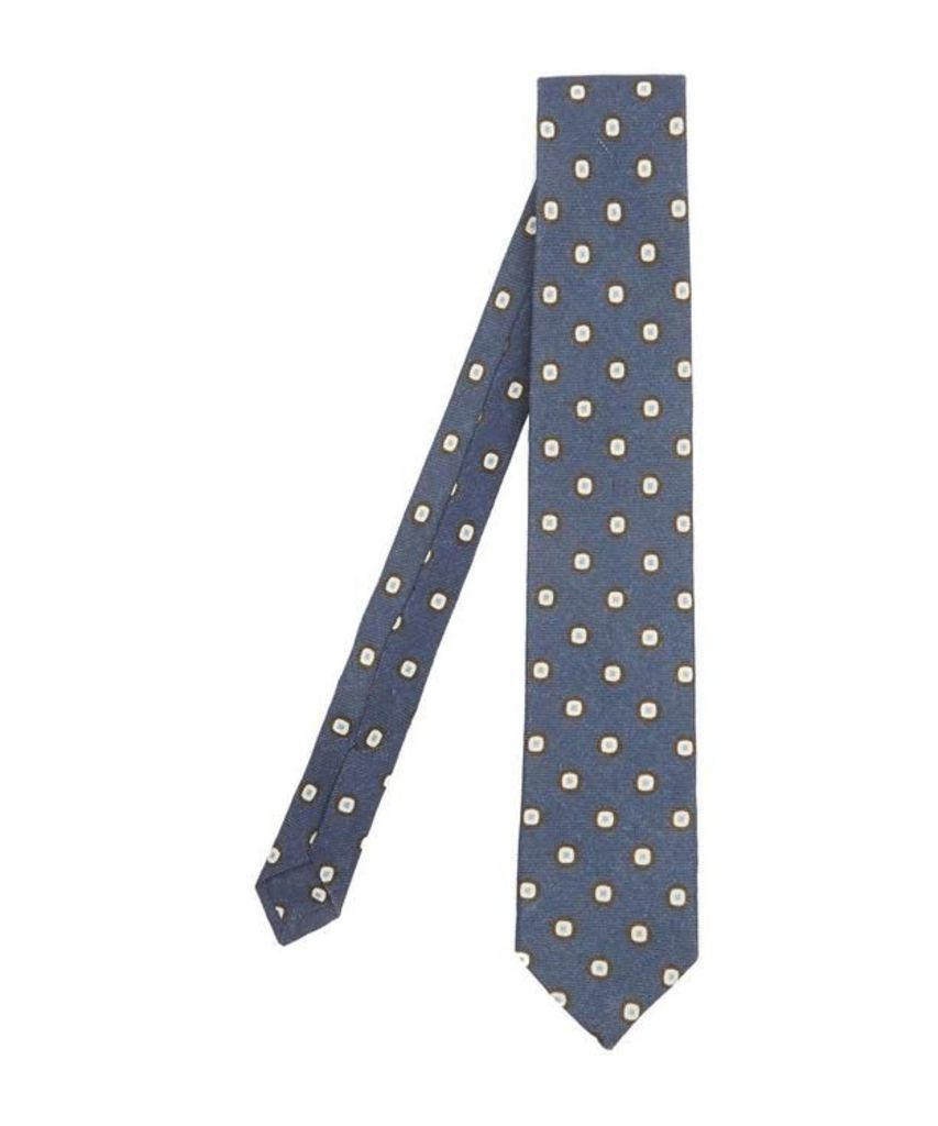 Square Print Wool Tie
