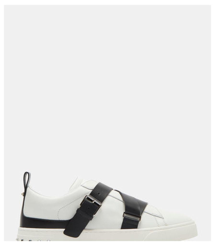 Buckled Strap Stud Sneakers