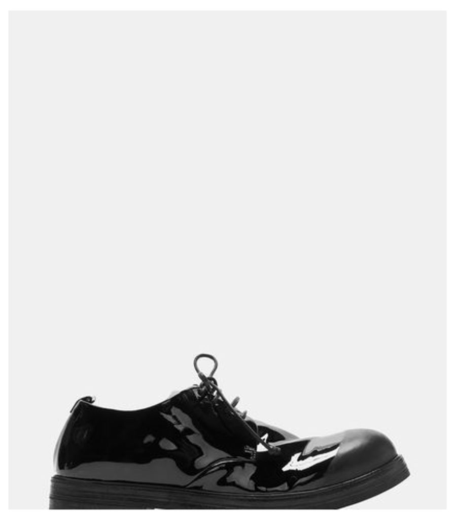 Zucca Zeppa Vernice Lace-Up Derby Shoes