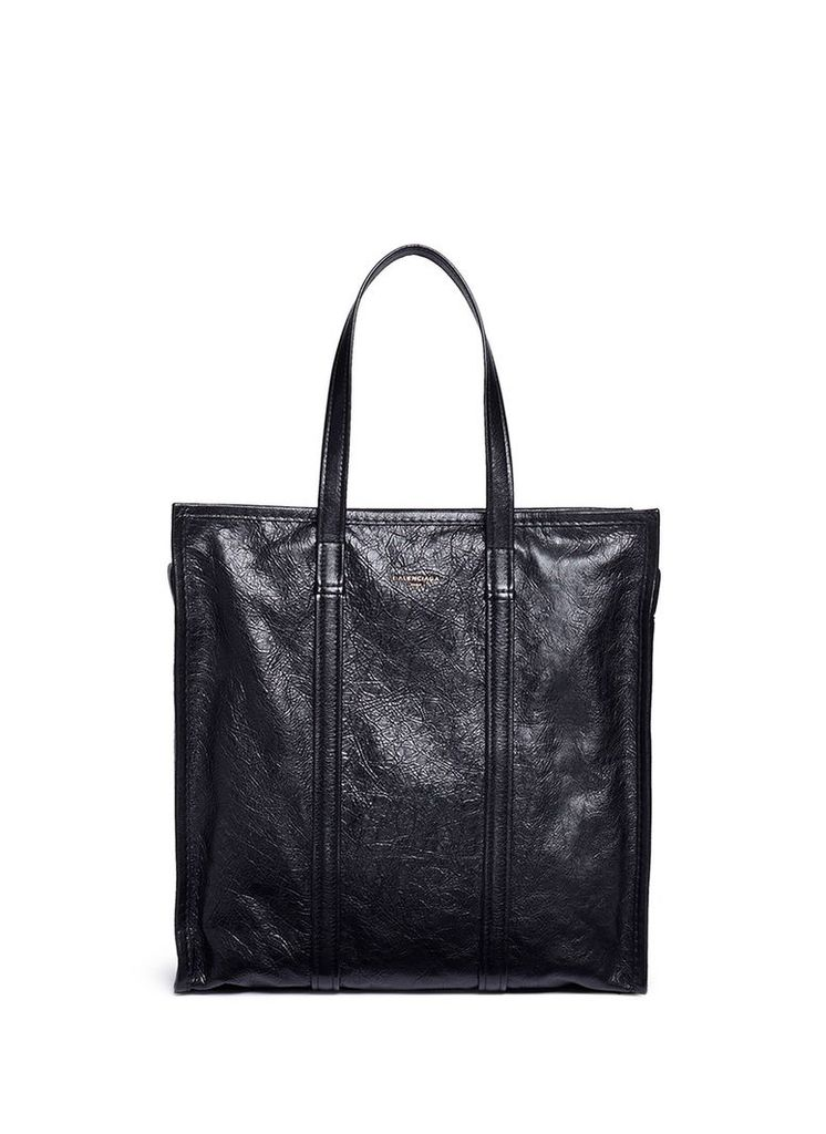 'Arena Bazar' crinkled leather tote bag