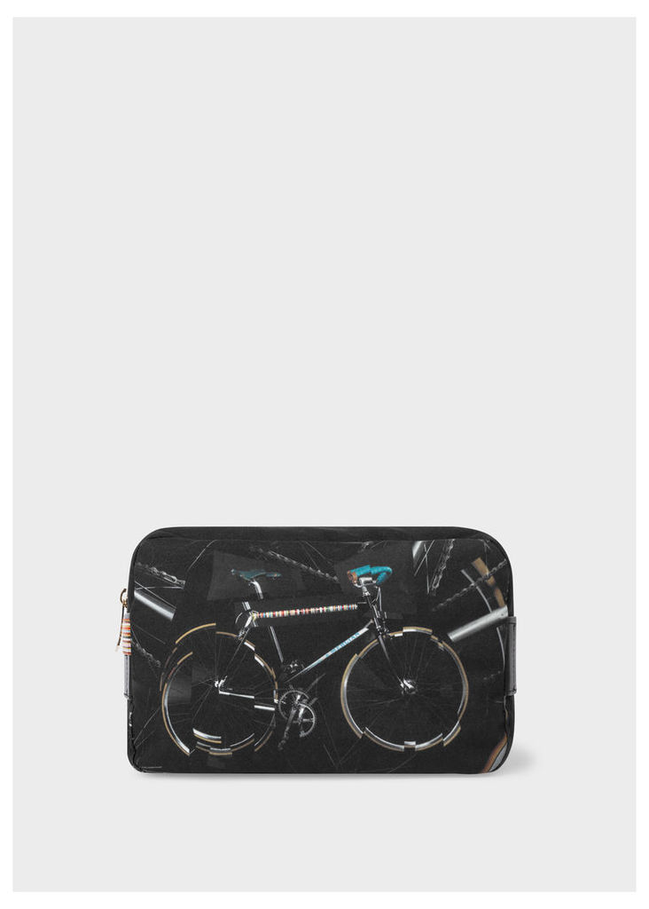 Men's 'Paul's Bike' Print Wash Bag