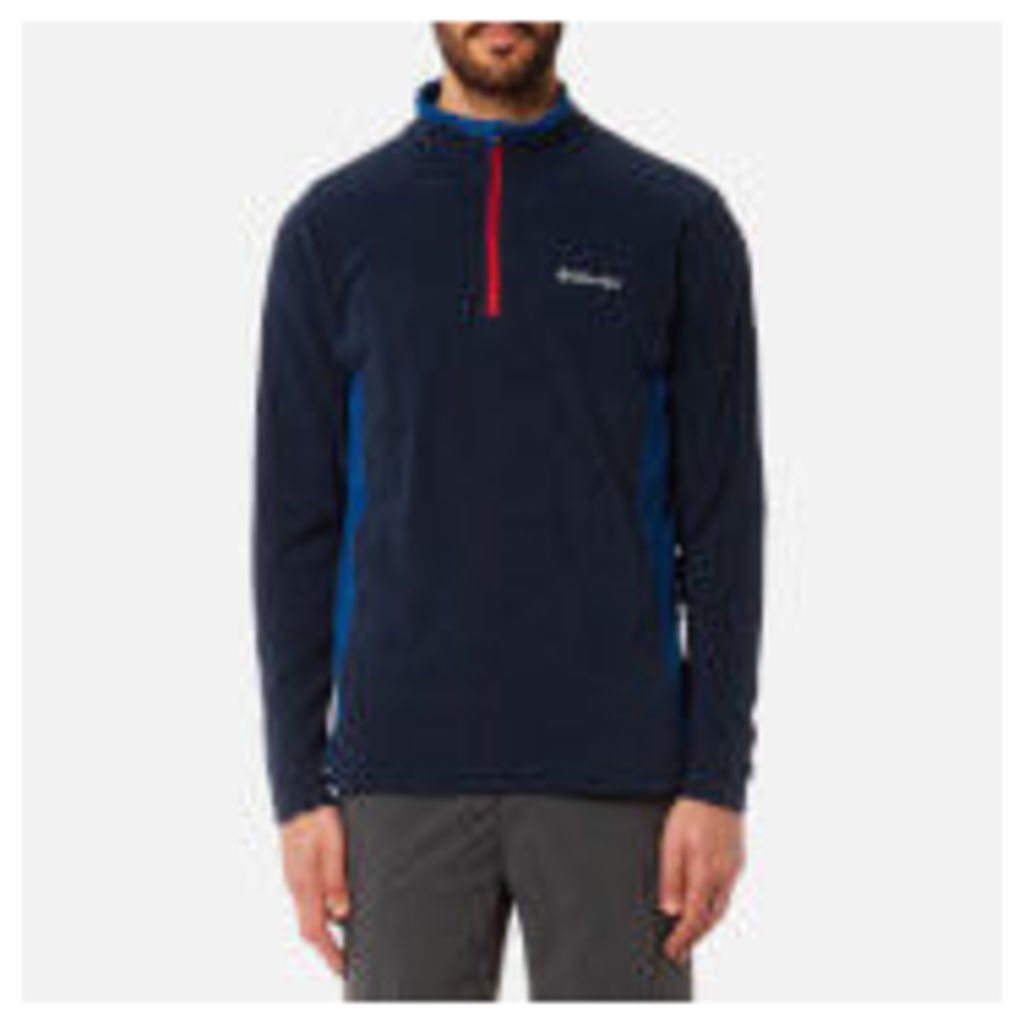 Columbia Men's Klamath Range 2 Half Zip Fleece - Collegiate Navy/Marine Blue - S - Blue