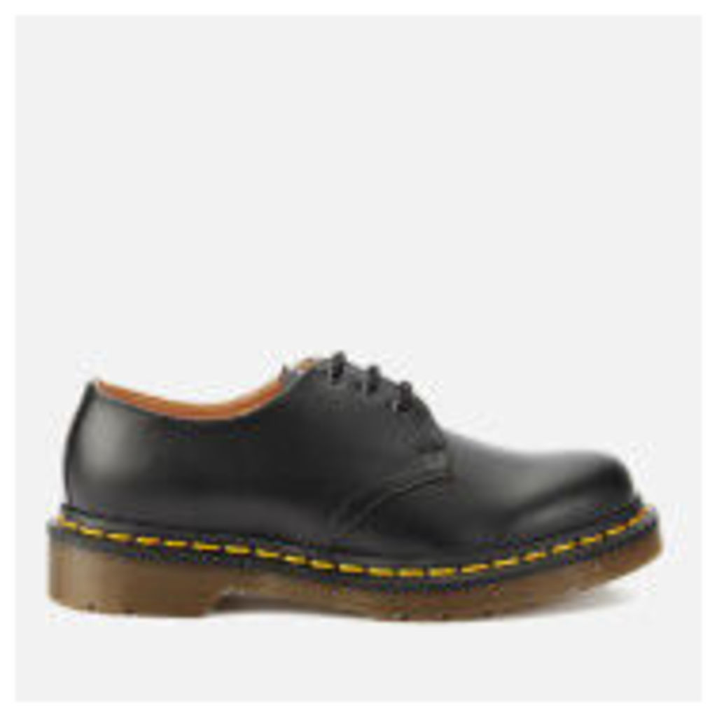 Dr. Martens 1461 Smooth Leather 3-Eye Shoes - Black - UK 7 - Black