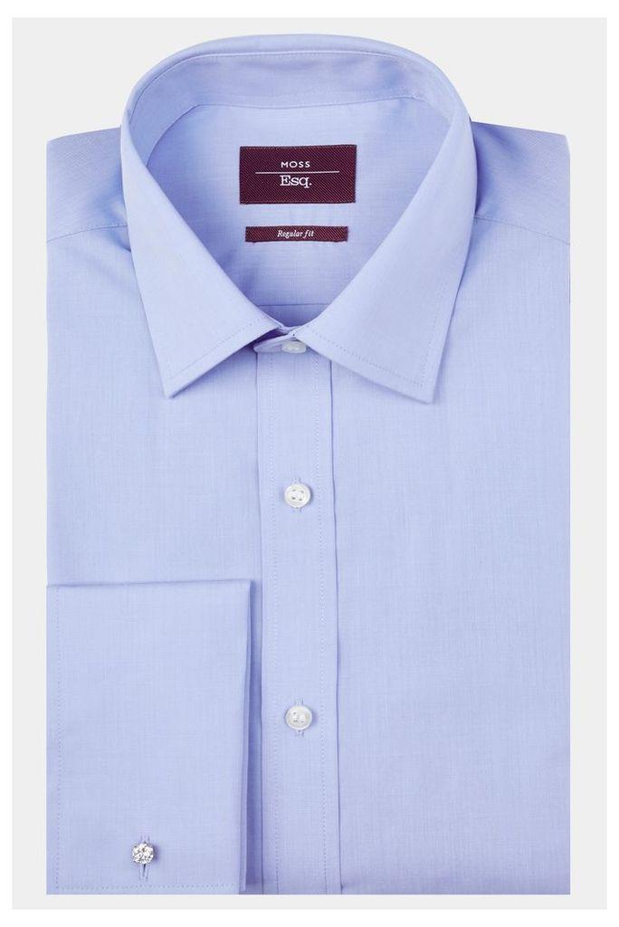 Moss Esq. Regular Fit Sky Single Cuff Shirt