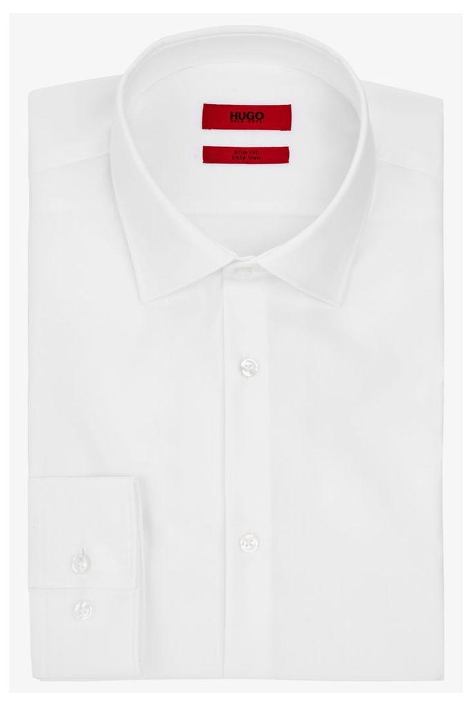 Hugo Boss Single Cuff Joey Pique Trim White Shirt