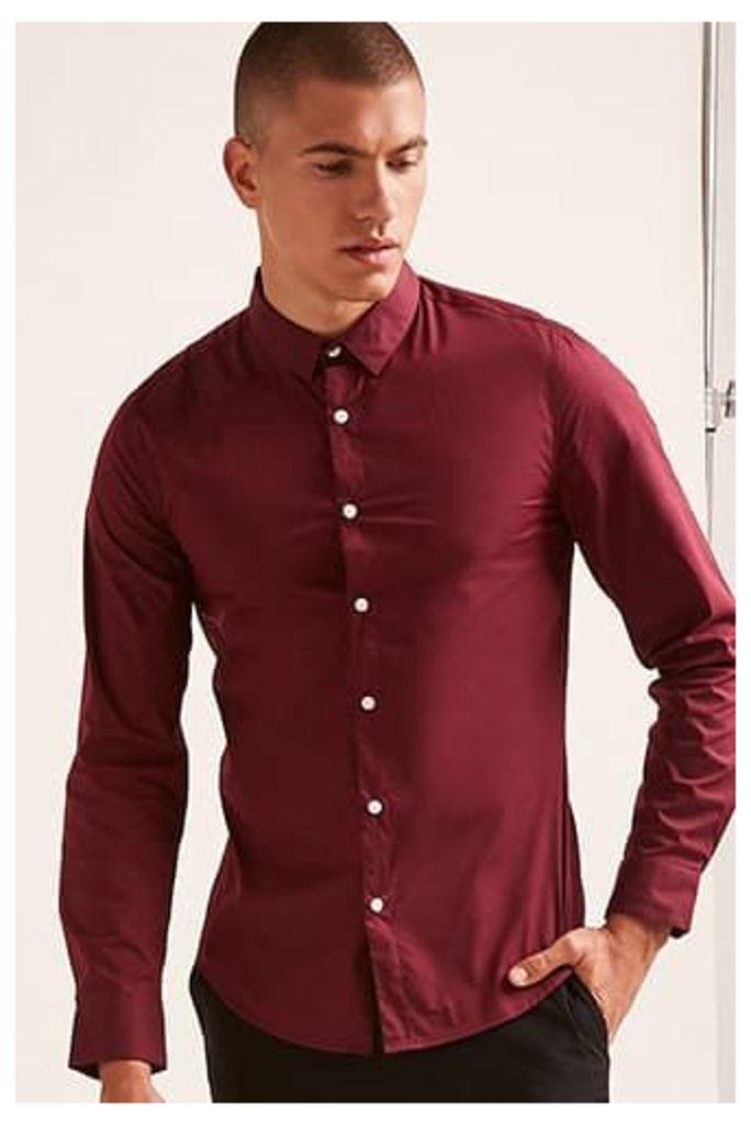 Buttoned Curved Hem Shirt