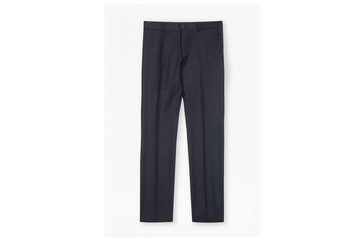 Classic Twill Suit Trousers - navy