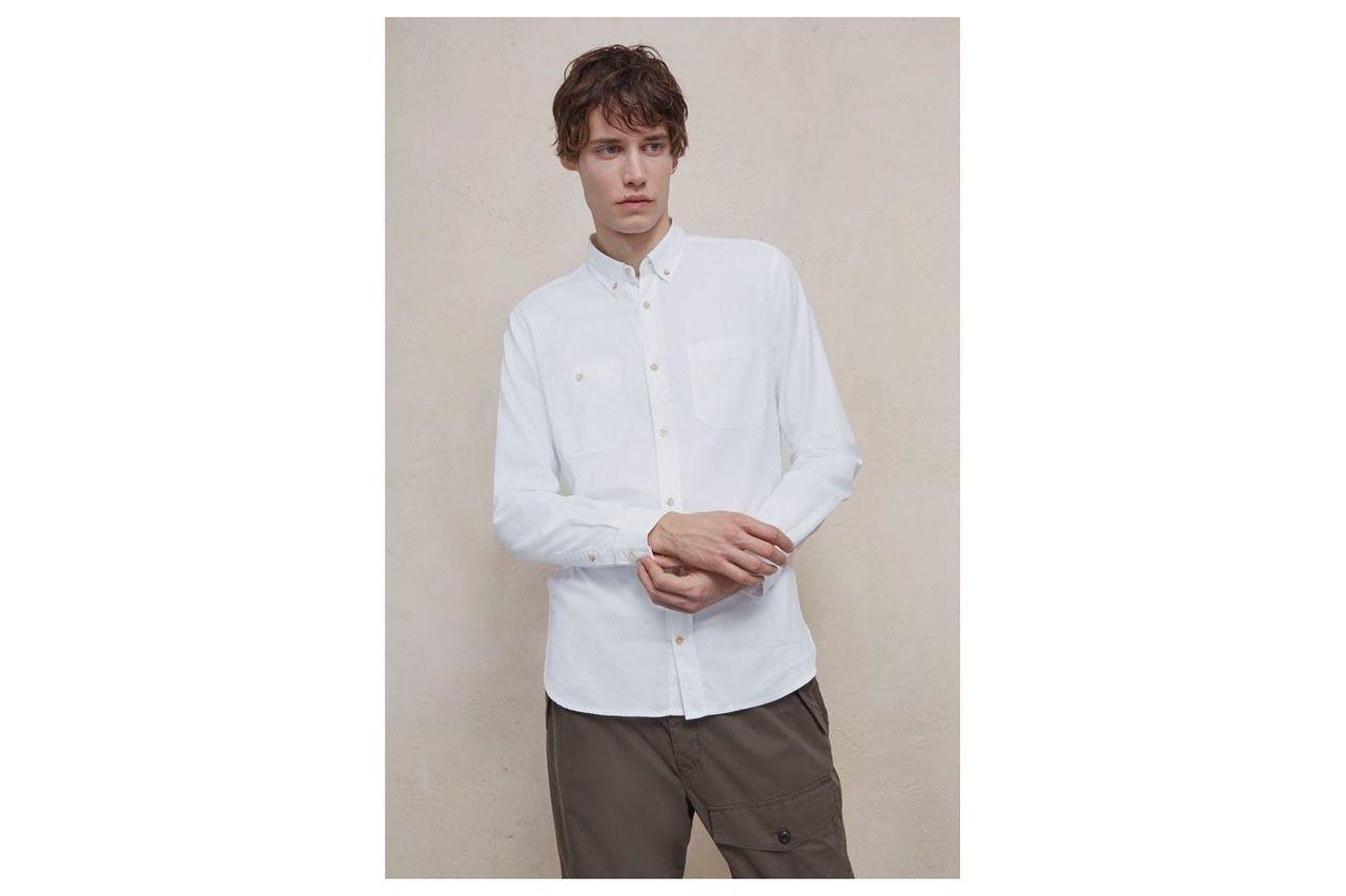Overwashed Oxford Shirt - white