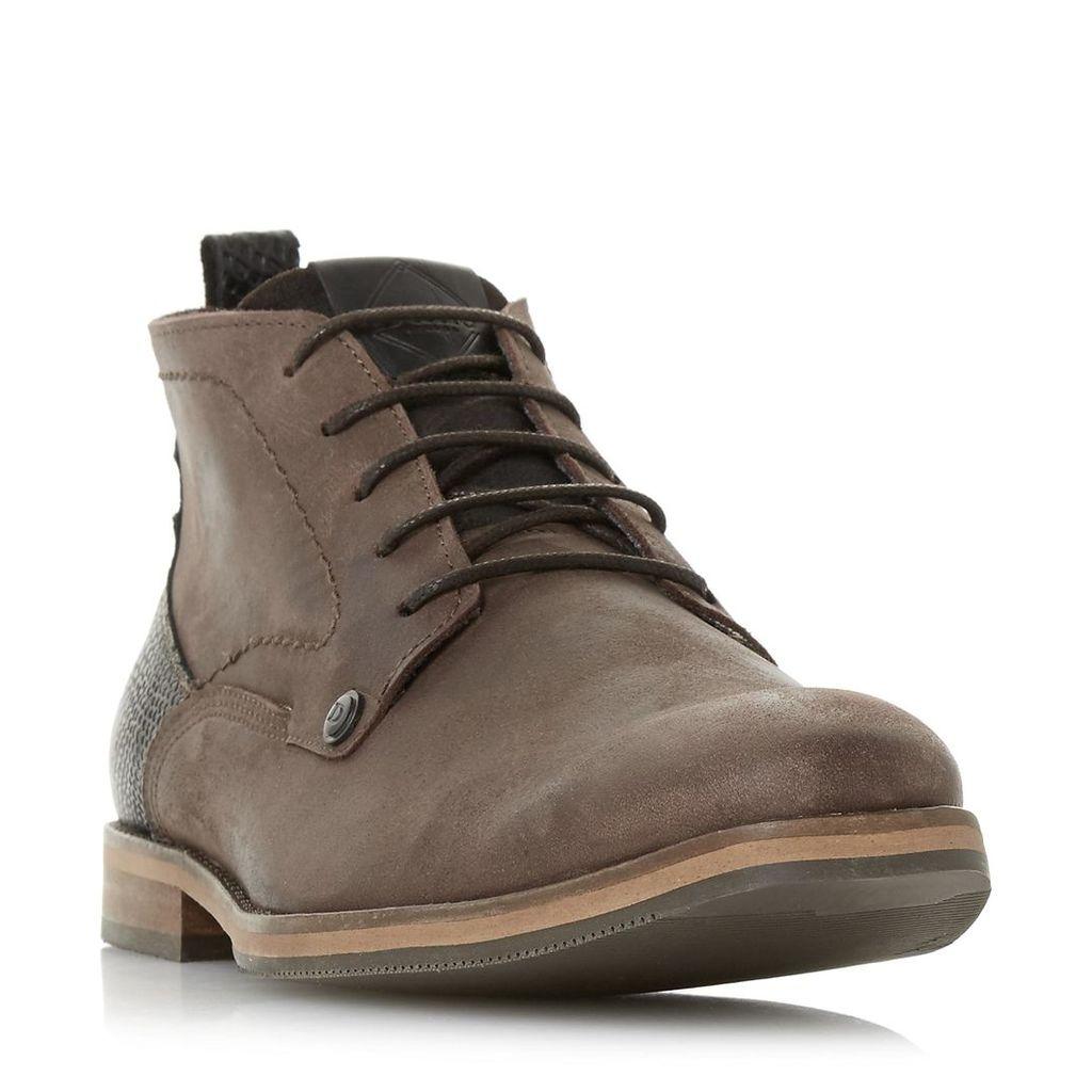 Campari Contrast Heel Nubuck Boot