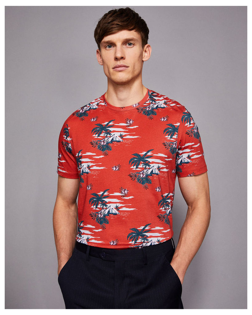 Ted Baker Island print T-shirt Red