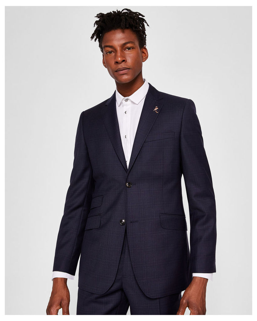 Ted Baker Sterling checked suit jacket Navy