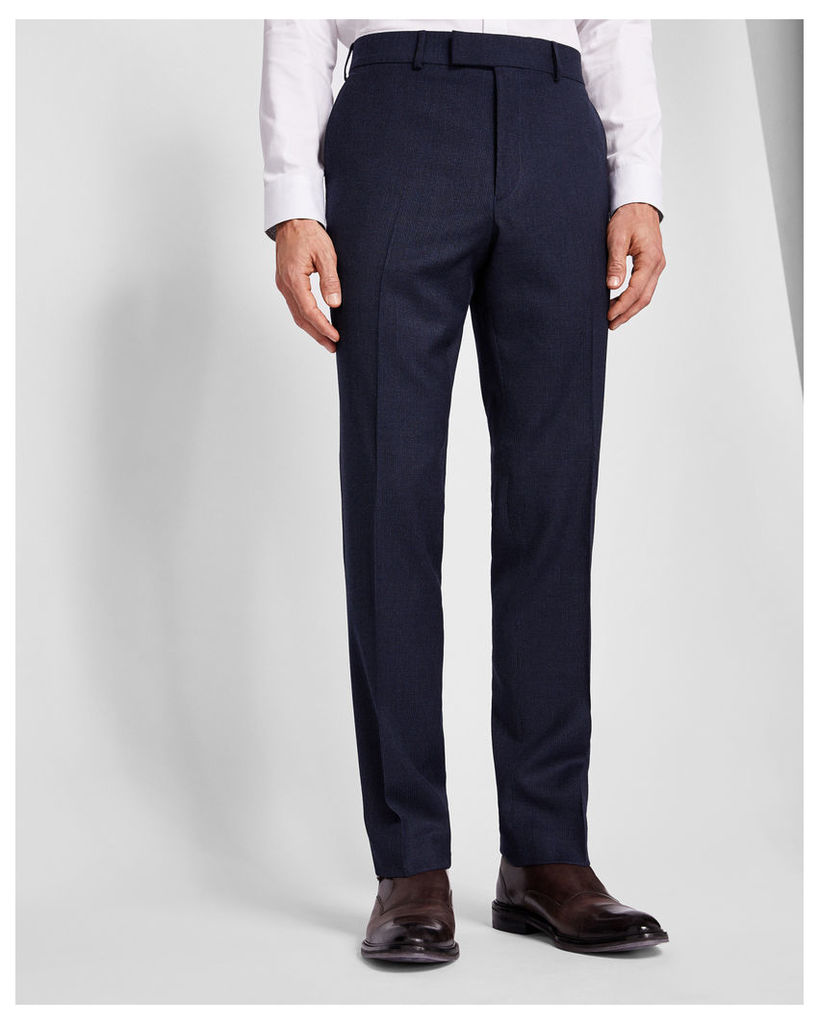 Ted Baker Sterling micro check suit trousers Blue