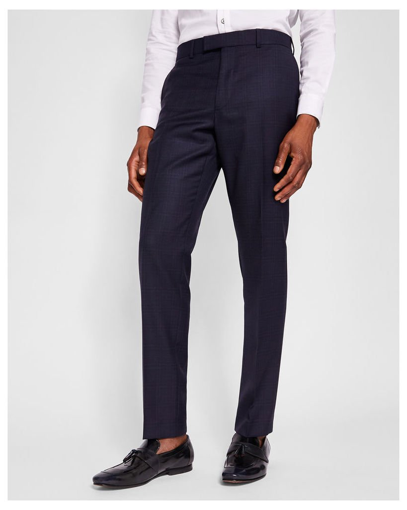 Ted Baker Sterling checked suit trousers Navy