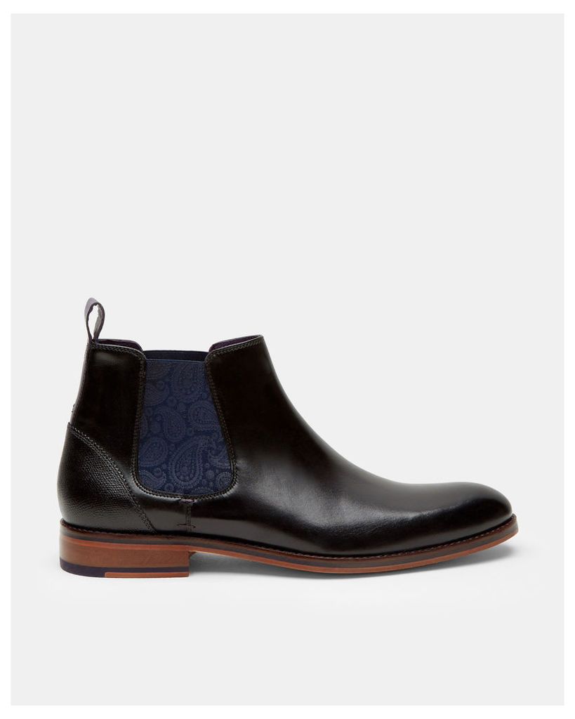 Ted Baker Leather Chelsea boots Black