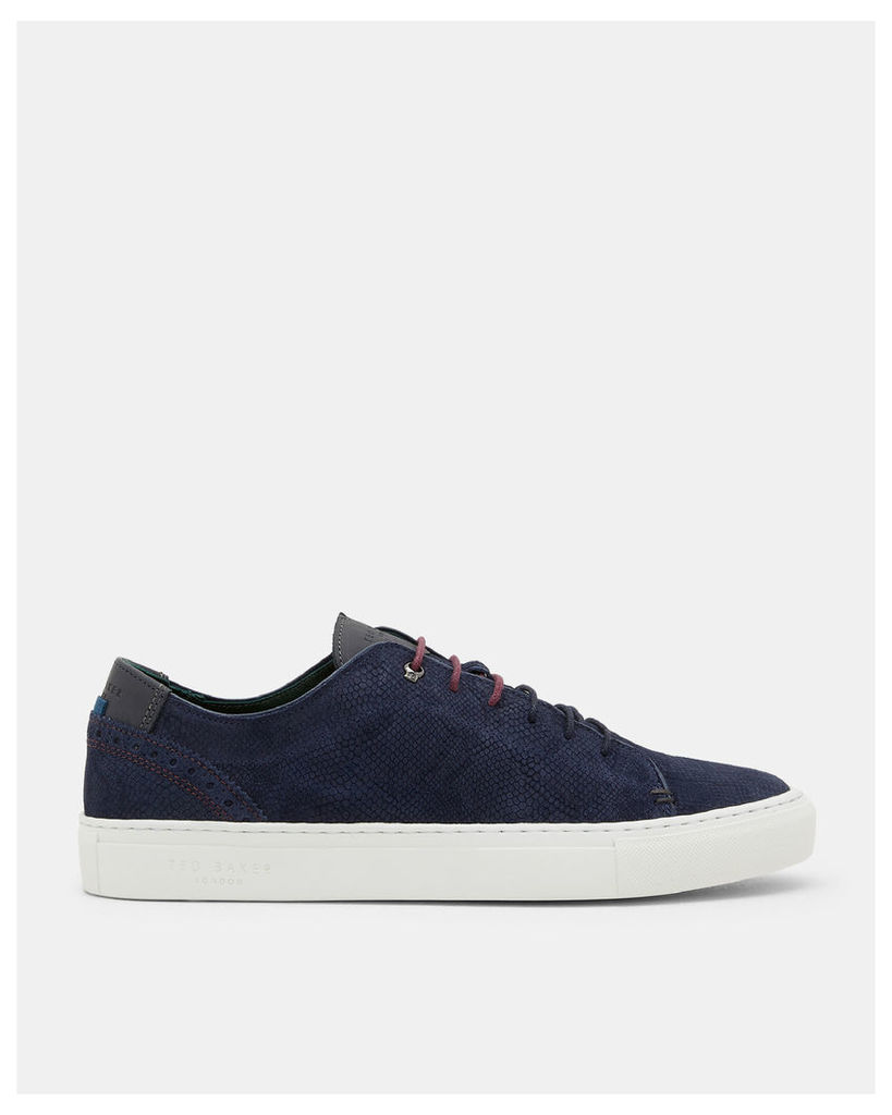 Ted Baker Leather brogue trainers Mid Blue