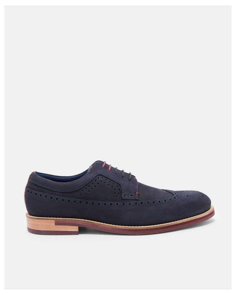 Ted Baker Nubuck leather Derby brogues Dark Blue