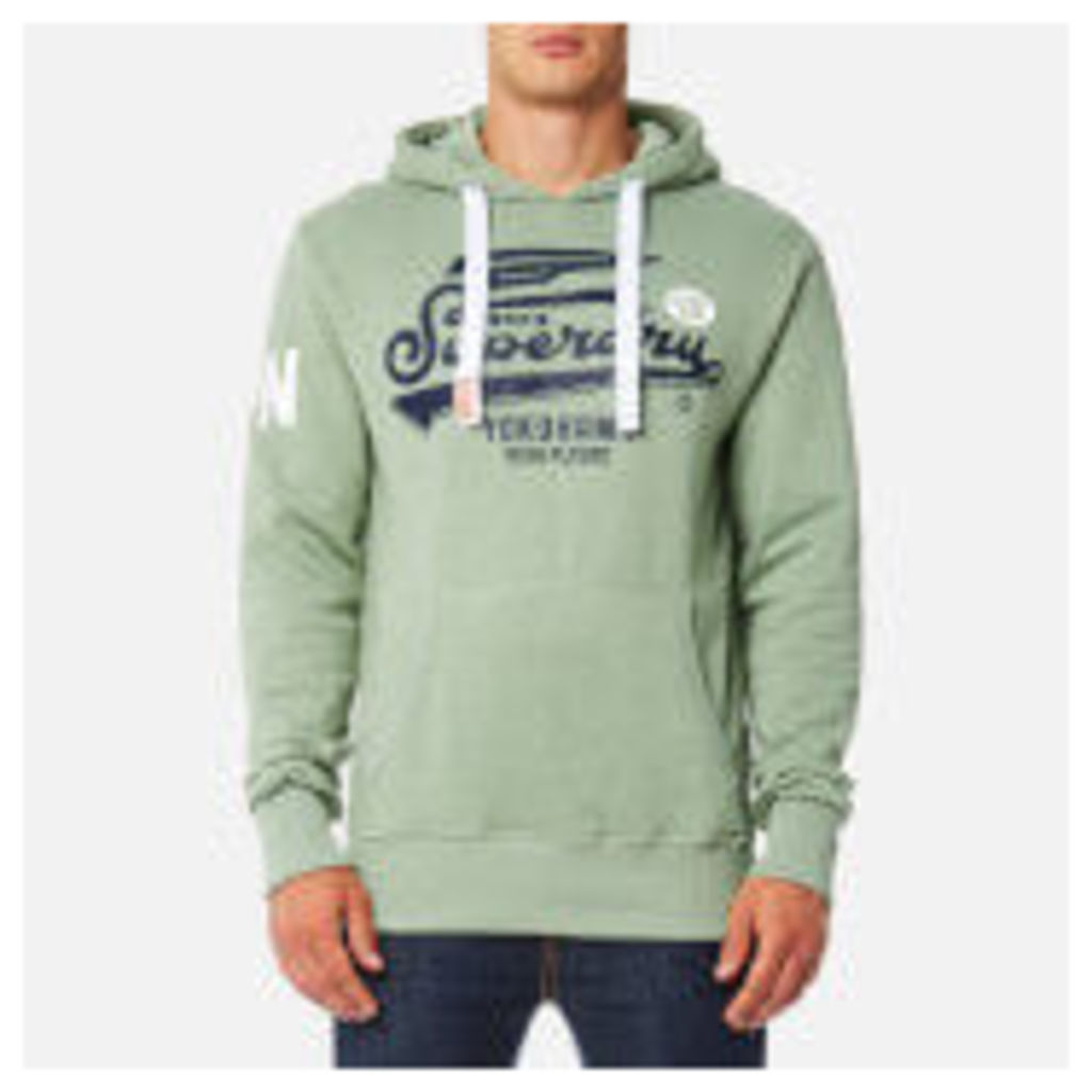 Superdry Men's High Flyers Hoody - Meadow Green Grit - XL - Green