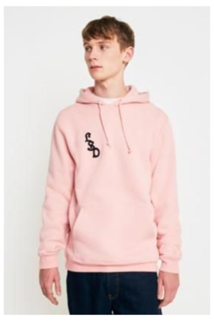 Stussy Palms Applique Dusty Rose Hoodie, Rose