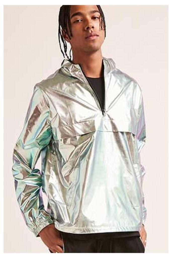 Metallic Hooded Anorak