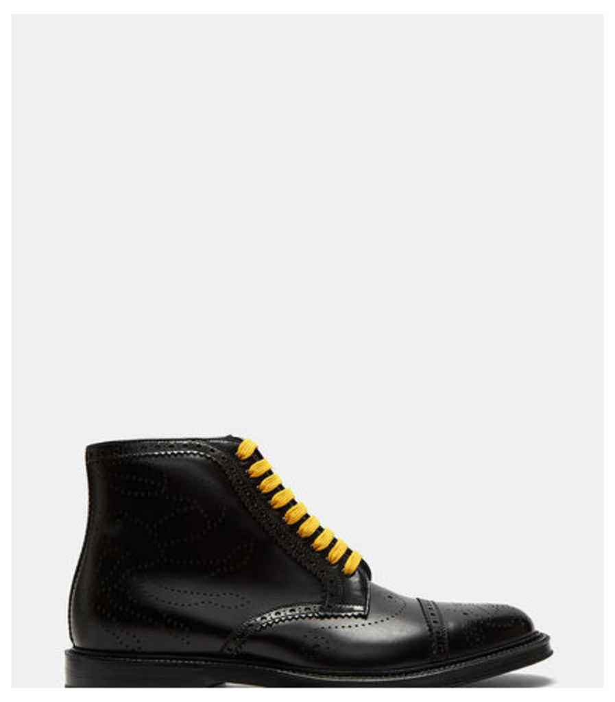 Crab Multicolour Laced Brogue Boots