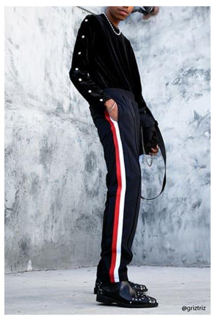 Stripe-Trim Track Trousers