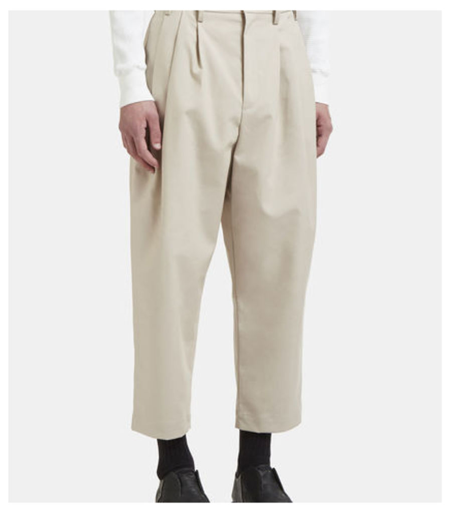 High Waist Cropped Tailored Pants