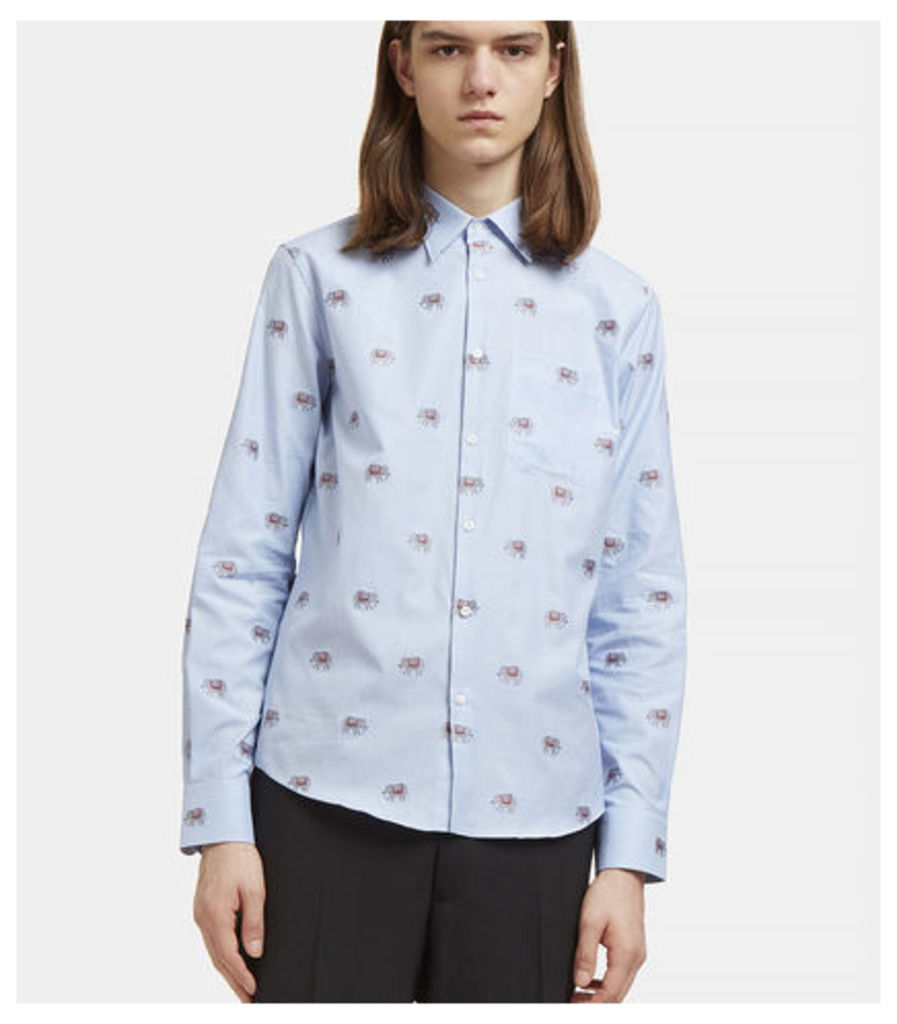 Embroidered Elephant Checked Shirt