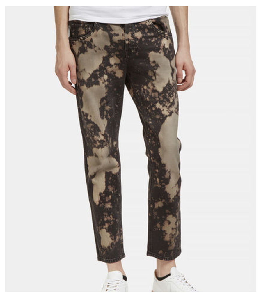 Chlorine Washed Straight Leg Jeans