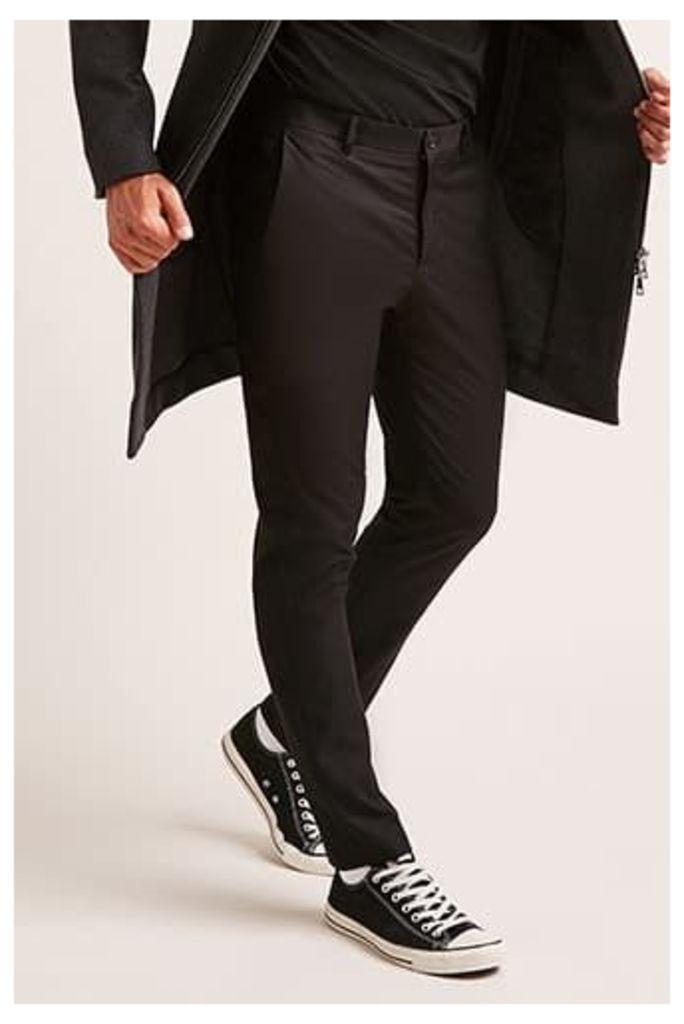 Slim-Fit Pressed Trousers
