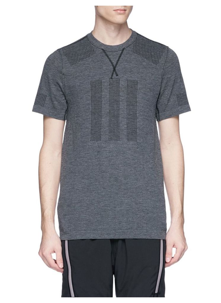 Perforated panel performance T-shirt