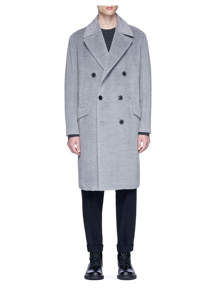 Alpaca-wool melton coat