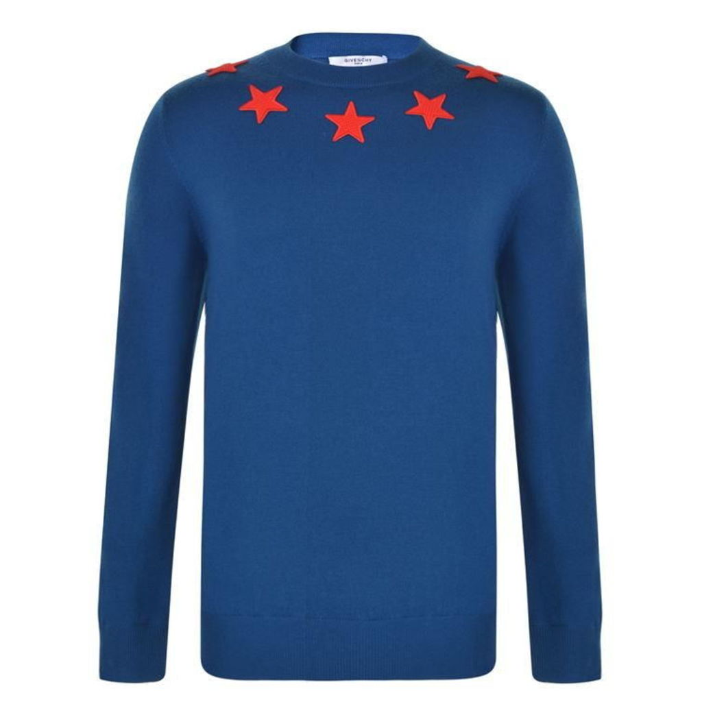 GIVENCHY Star Applique Knitted Jumper