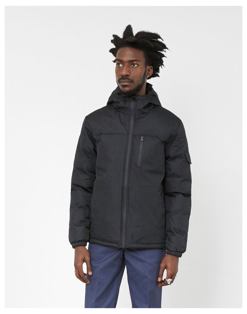 The Idle Man Panelled Puffer Jacket Black