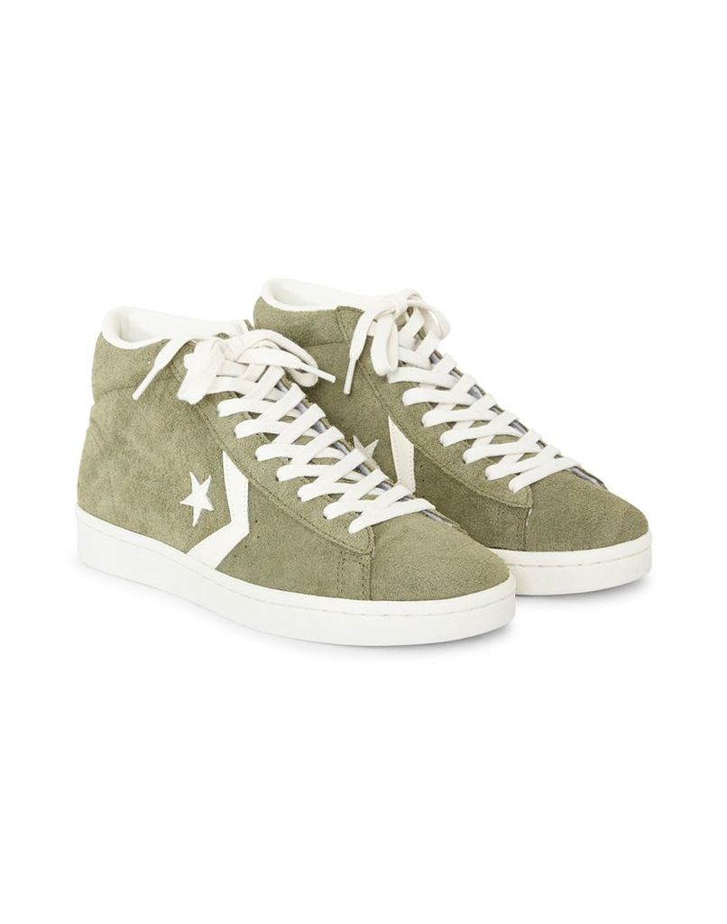 Converse Pro Leather '76 Suede Mid Green