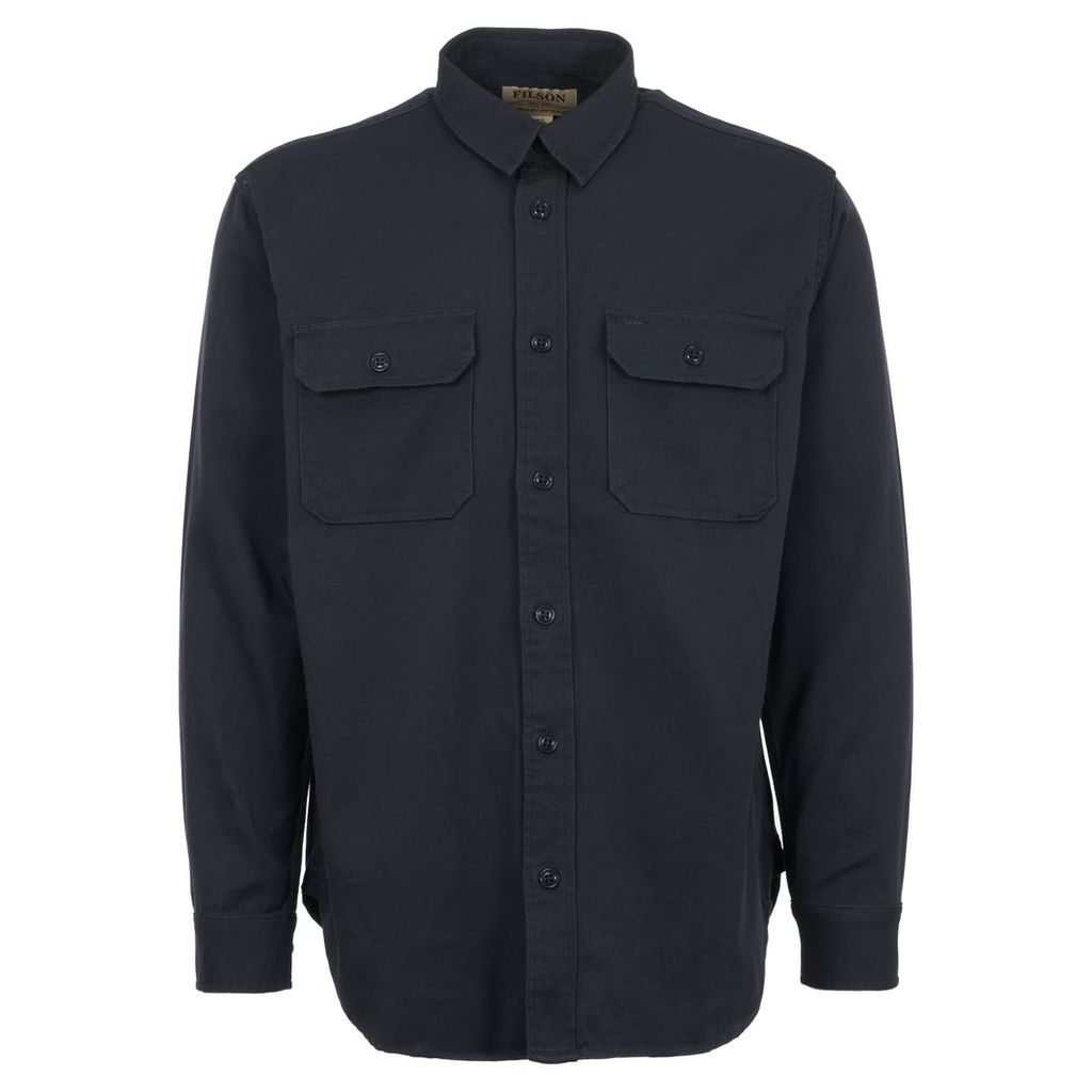 Navy Drill Chino Shirt