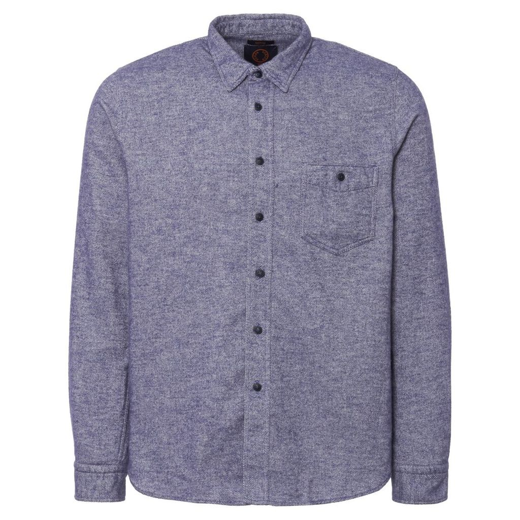 Blue Melange Jeffrey Shirt