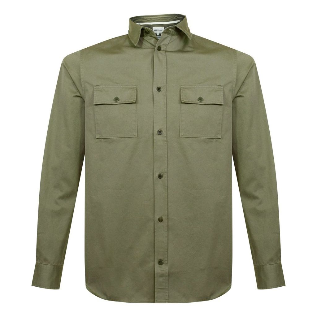 Norse Projects Villads Twill Olive Shirt N40-0365