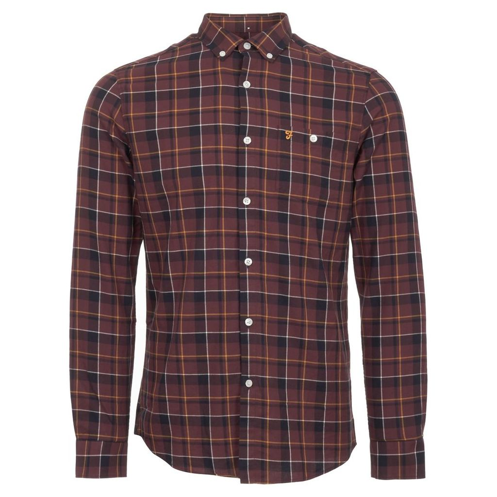 Red Oldman Check Twill Shirt