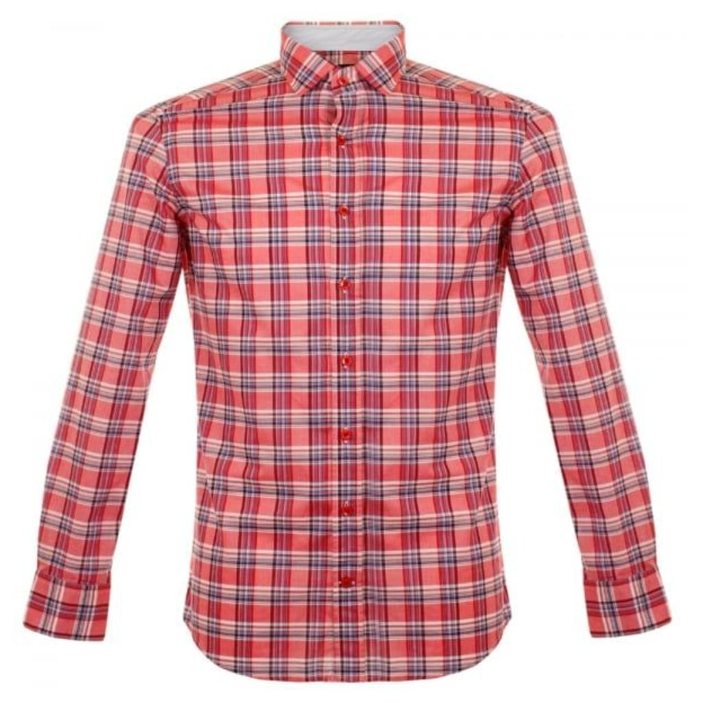 Hackett X Thomas Mason Bold Check Red Shirt HM304598