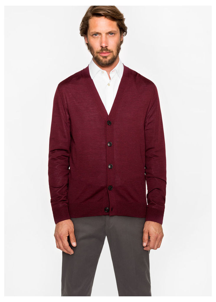 Men's Damson Merino Wool Cardigan