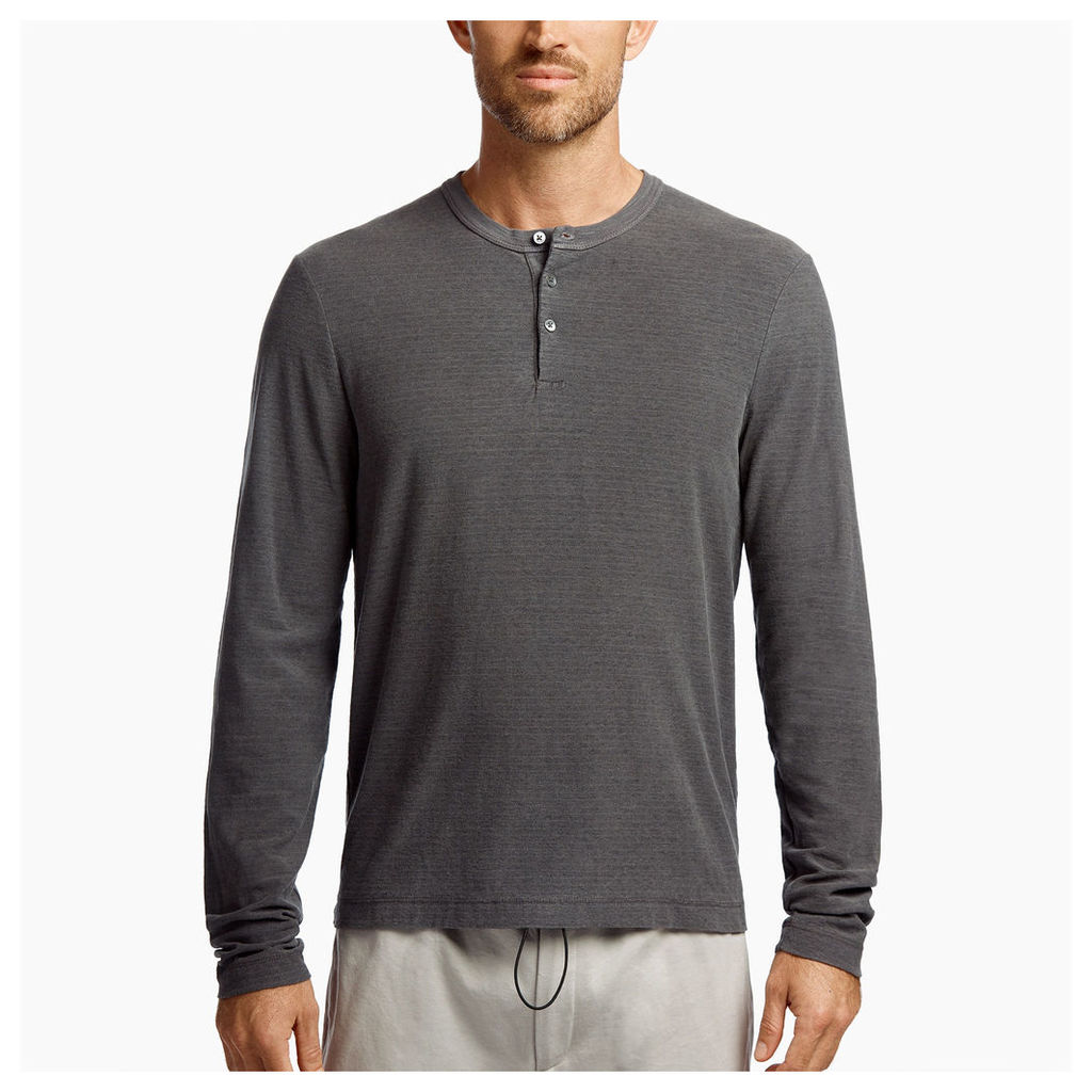 MICRO STRIPED JERSEY HENLEY