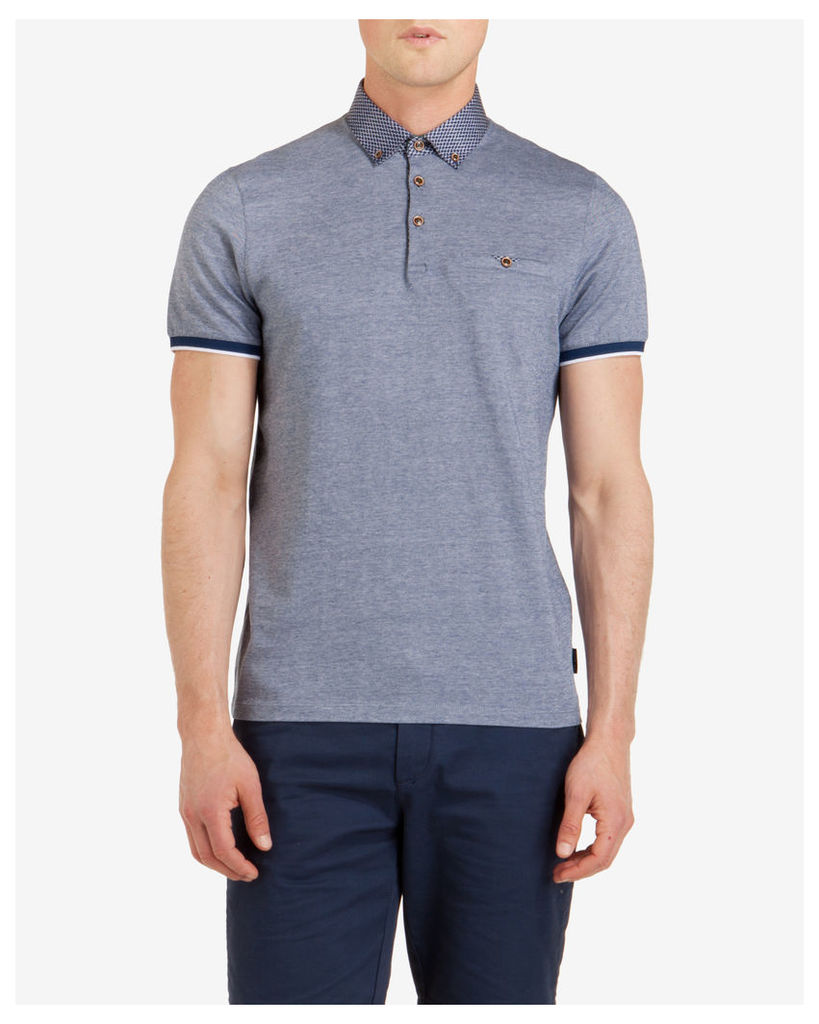 Ted Baker Oxford polo shirt Blue