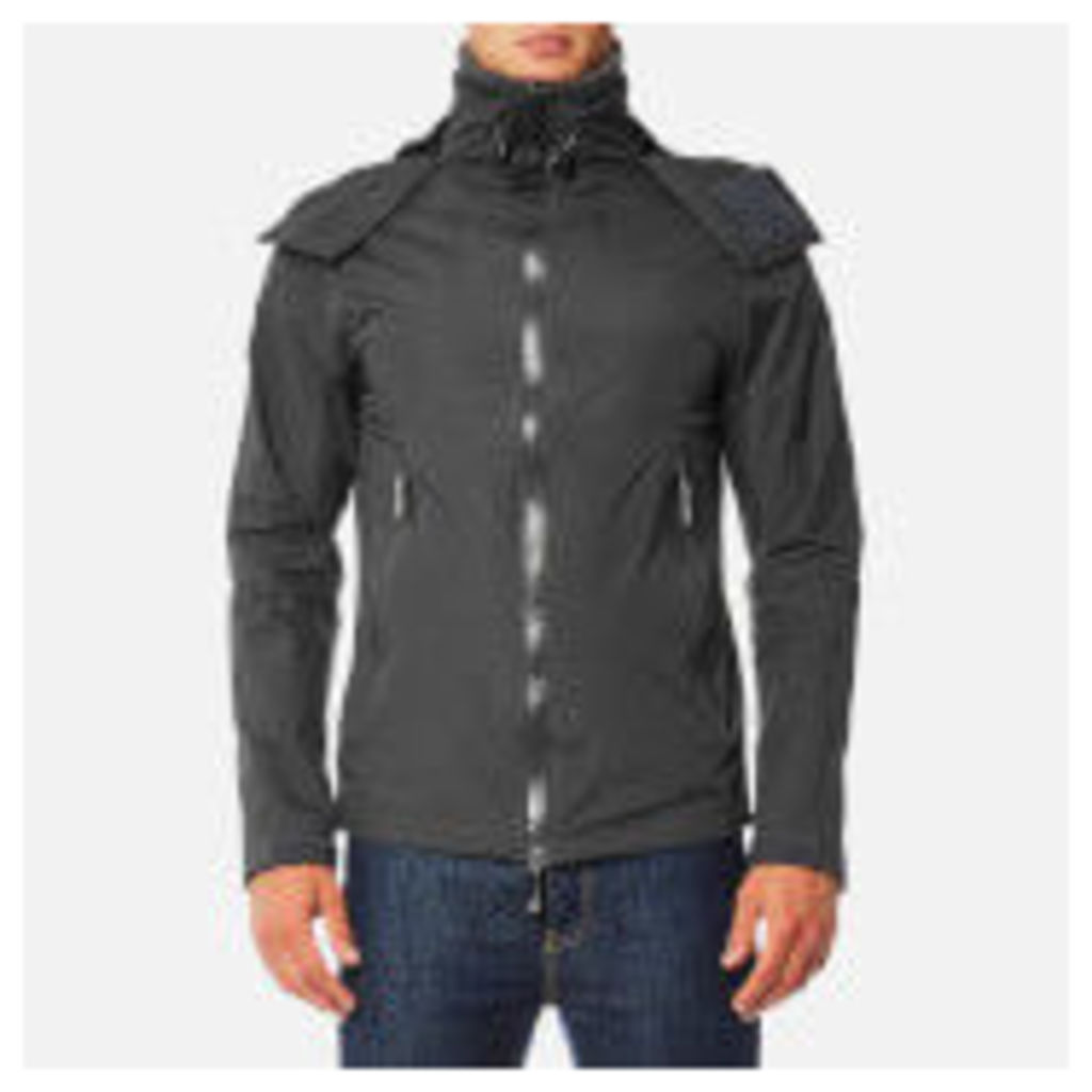 Superdry Men's Hooded Cliff Hiker Jacket - Dark Charcoal/Black - M - Grey