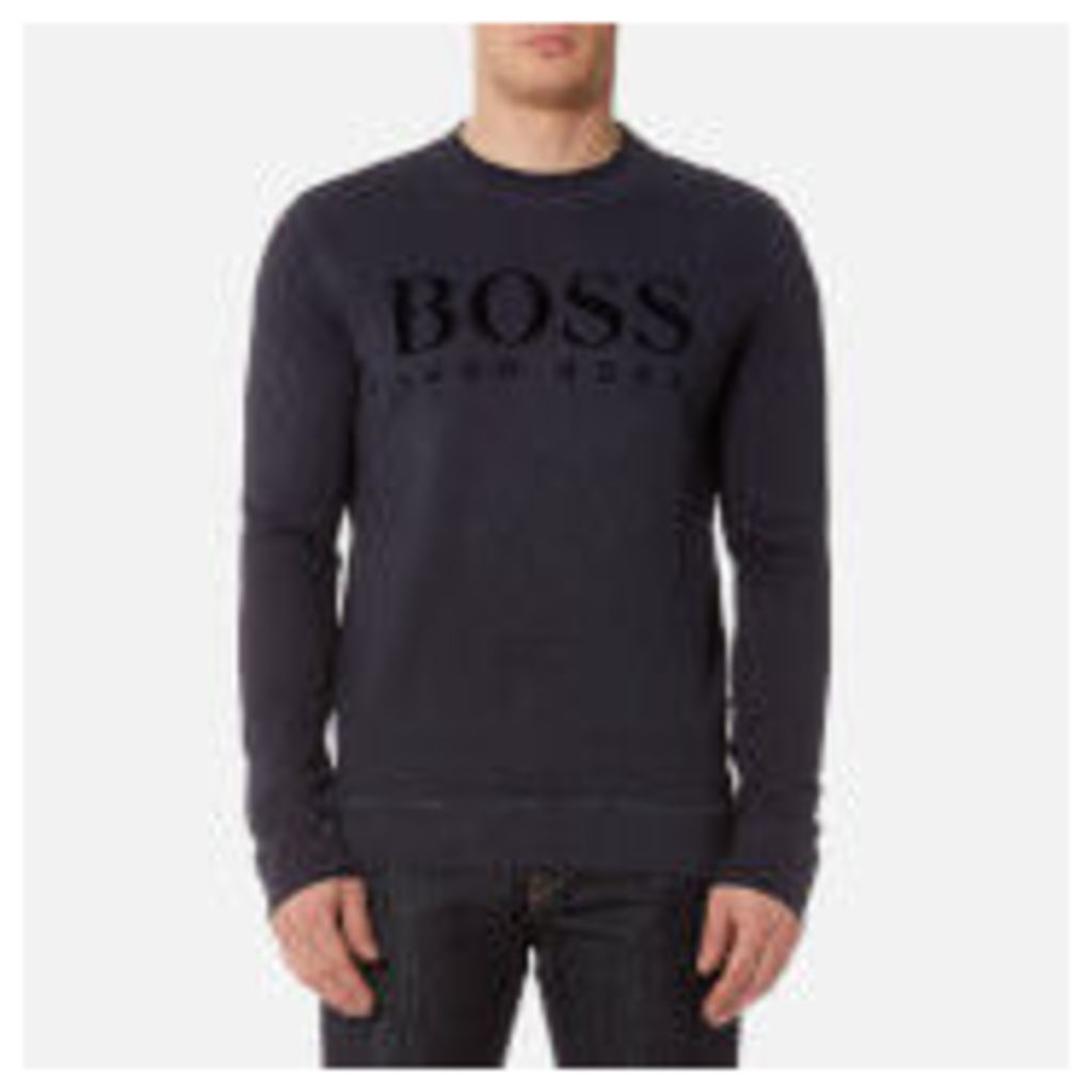 BOSS Orange Men's Wlan Crew Neck Sweatshirt - Navy - S - Blue