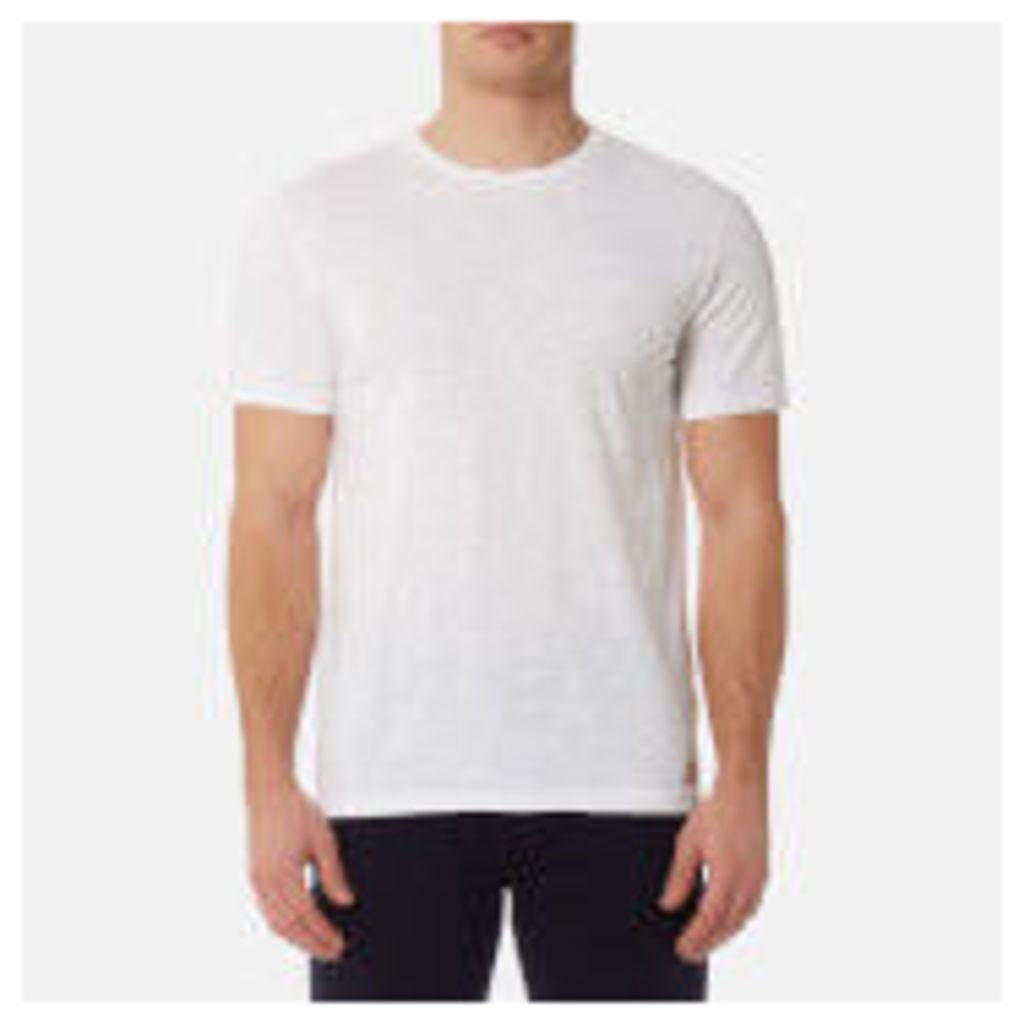 7 For All Mankind Men's Basic T-Shirt - Off White - S - White